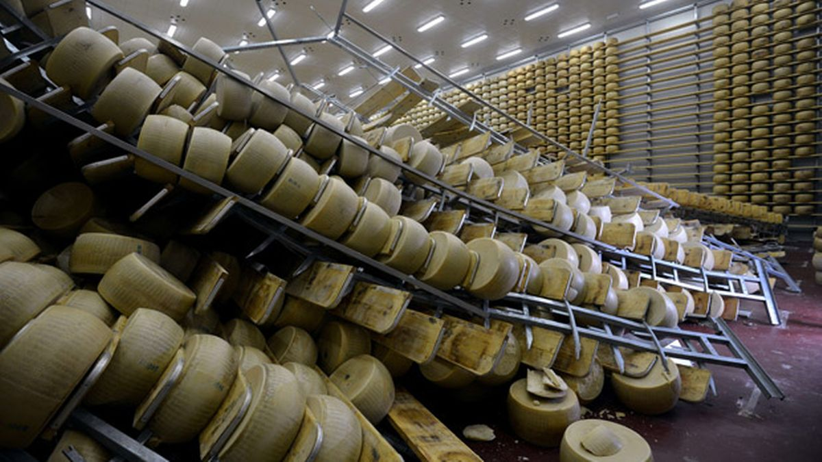 terremoto bolonia y el queso parmesano